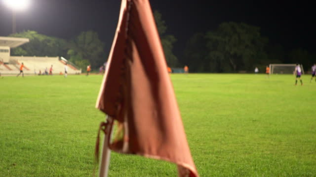 Unscharfen Hintergrund eines Fußballfeldes