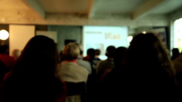 blurred business conference - public speaker stock videos & royalty-free footage