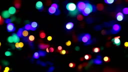 blurred christmas lights abstract background