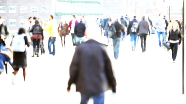 blurred commuters - high key stock videos and b-roll footage