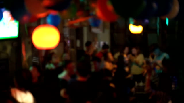 HD MS: Blurred Concert Crowd Dance at the Night Concert. Defacesed shot