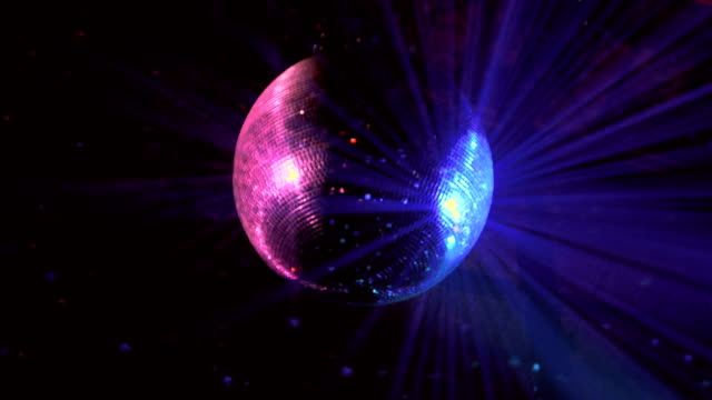 blurred disco ball reflecting lights - mirror ball stock videos & royalty-free footage