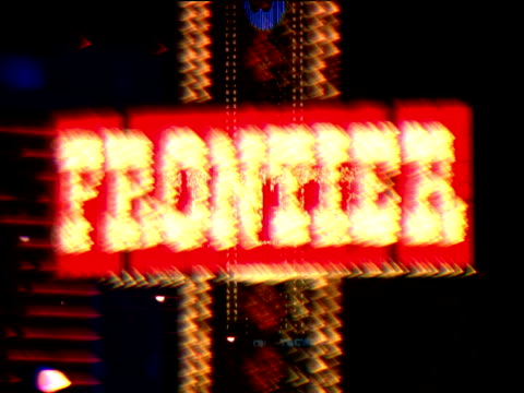 blurred flashing neon signs las vegas - 2000s style stock videos & royalty-free footage