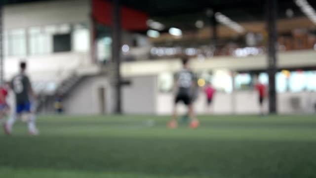 Verschwommene Bild eines football-Feld, Verwendung für Hintergrund.