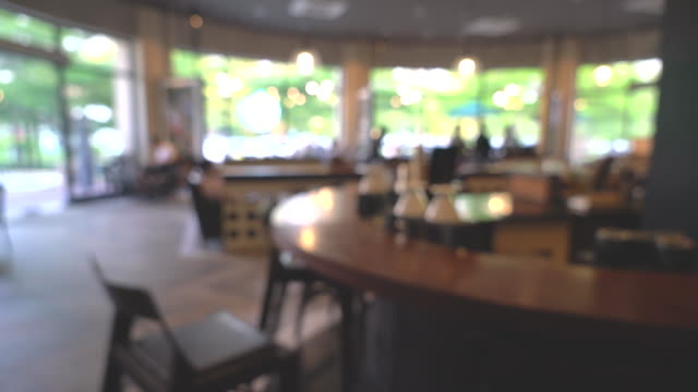 blurred in coffee shop