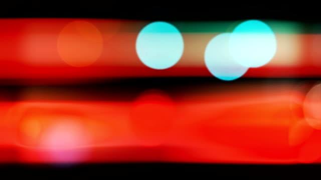 Unscharfe Lichter und Verkehr Bokeh in der Nacht