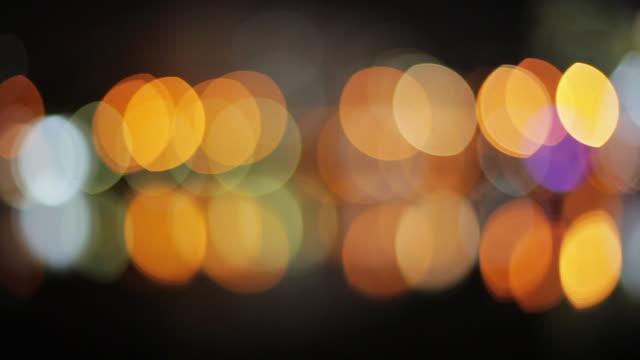 blurred lights at night - プエルトマデロ点の映像素材/bロール