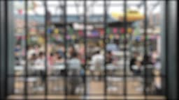 Blurred many people meeting in working space