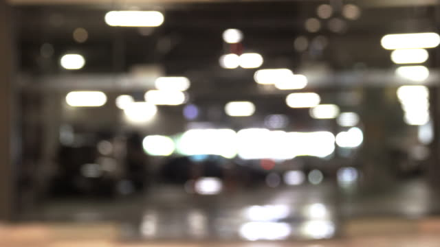 Blurred motion of Parking Lot in Building