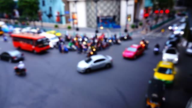 バンコクの交通渋滞のぼやけ動き - ガス料金点の映像素材/bロール