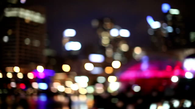 blurred people and skyline in sydney - australia - downtown stock videos & royalty-free footage
