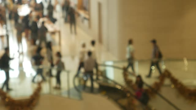 blurred people crowded in the new department store. - apple store stock videos & royalty-free footage
