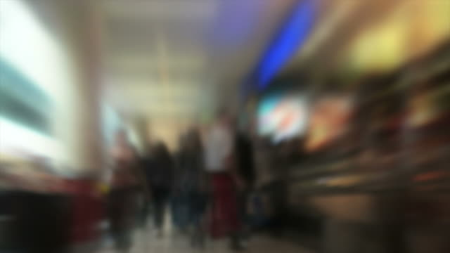 Blurred People in Shopping Mall (Loopable Time Lapse)