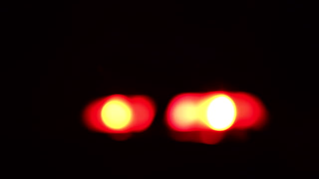Blurred Red & Blue Police Sirens / Flashing Lights
