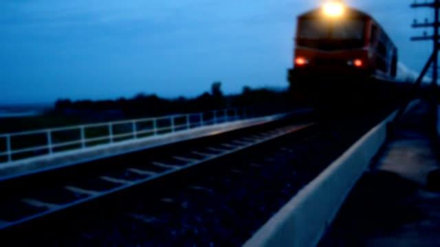 移動中にぼやけ鉄道 - 貨物列車点の映像素材/bロール