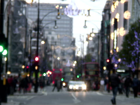 Blurred Winter / Holiday Traffic, London -Time Lapse-