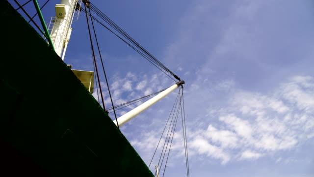 Blurred-Crane on barge