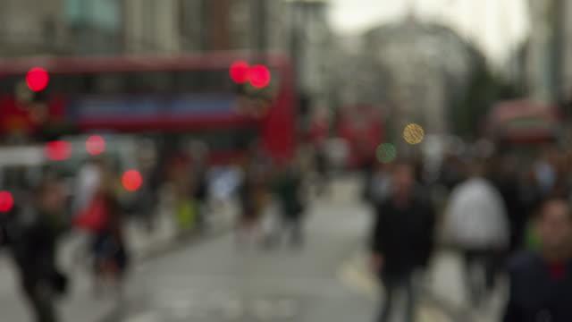 Blurry Oxford Street slow motion
