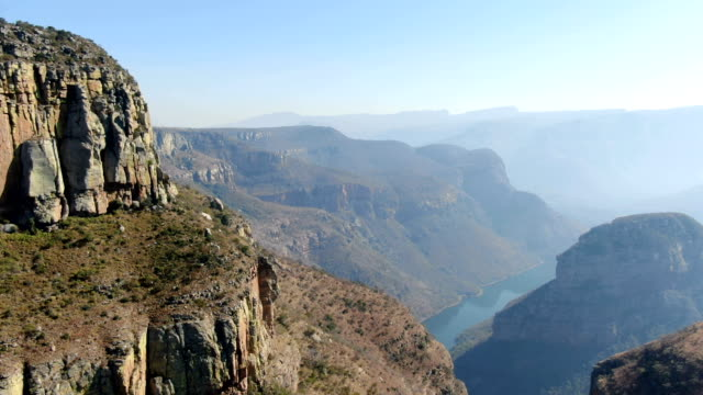 blyde river canyon aerial view , south africa - republik südafrika stock-videos und b-roll-filmmaterial