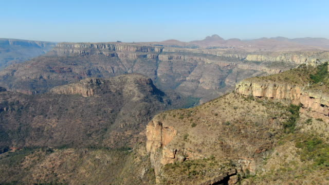 blyde river canyon aerial view , south africa - drakensberg mountain range stock videos & royalty-free footage