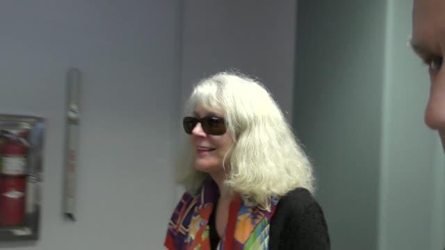 Blythe Danner arriving to the Sundance Film Festival at Salt Lake City Airport in Utah in Celebrity Sightings in Park City UT