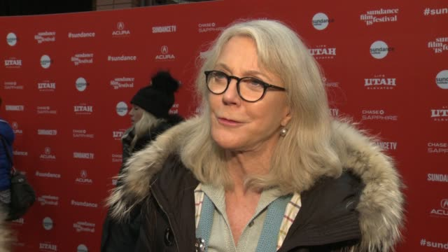 INTERVIEW Blythe Danner at the 'What They Had' World Premiere 2018 Sundance Film Festival at Eccles Center Theatre on January 21 2018 in Park City...