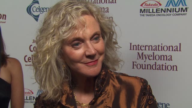 blythe danner on the event, memories of peter boyle at the international myeloma foundation's 3rd annual comedy celebration at los angeles ca. - peter boyle stock videos & royalty-free footage
