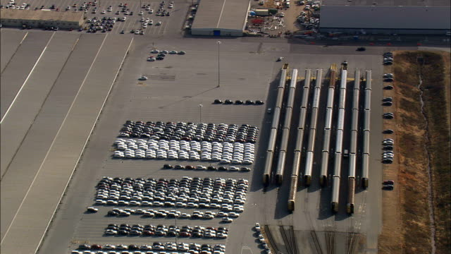 bmw logistics  - aerial view - south carolina,  spartanburg county,  united states - bmw stock videos & royalty-free footage
