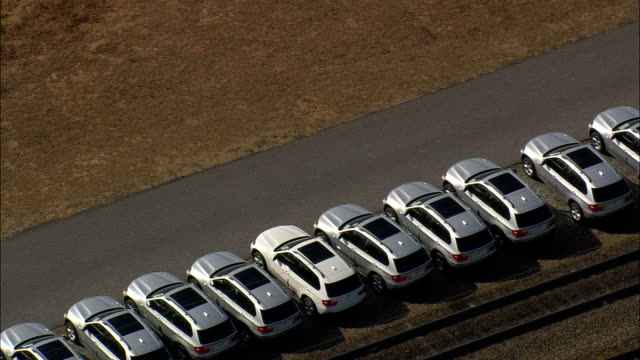 bmw plant - aerial view - south carolina,  greenville county,  united states - car plant stock videos & royalty-free footage