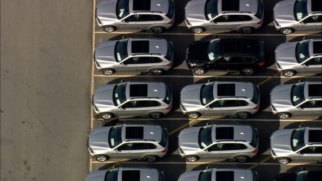 bmw plant - aerial view - south carolina,  pickens county,  united states - repetition stock videos & royalty-free footage
