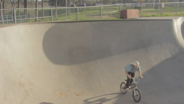Bmx Rider Carving In A Bowl