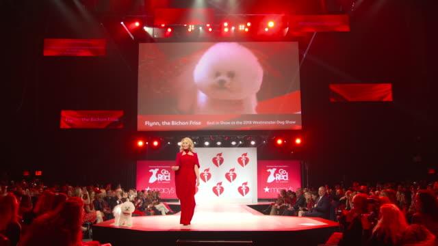 vídeos de stock e filmes b-roll de bo derek at the the american heart association's go red for women red dress collection 2019 at hammerstein ballroom on february 07 2019 in new york... - bo derek