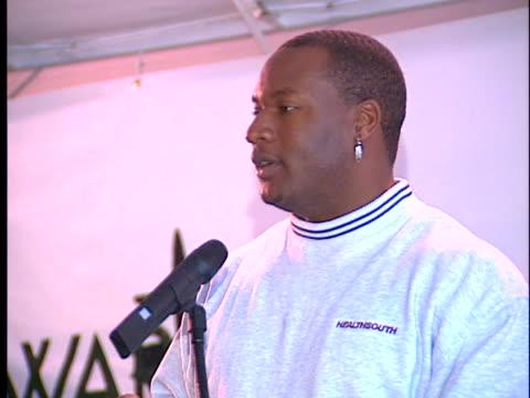 bo jackson at the bo jackson howard hughes center groundbreaking ceremony at howard hughes center - bo jackson stock videos & royalty-free footage