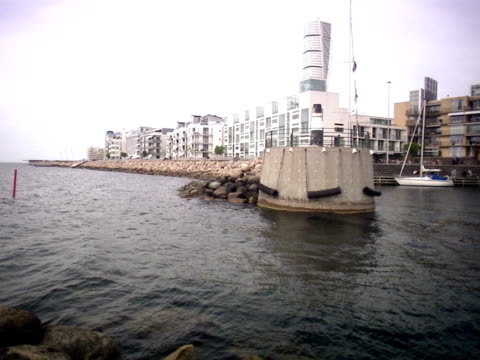 bo01 a housing area in malmo sweden. - malmo stock videos and b-roll footage