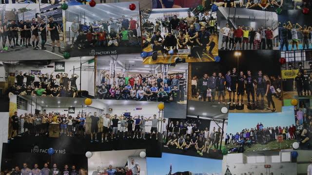 vidéos et rushes de planche avec des photos de souvenirs des compétitions sportives - nostalgie