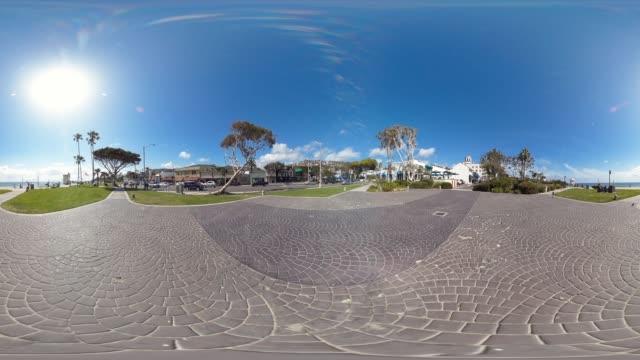 boardwalk in laguna beach california usa - laguna beach california stock-videos und b-roll-filmmaterial