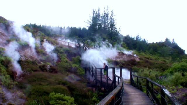 boardwalk in volcanic wonderland