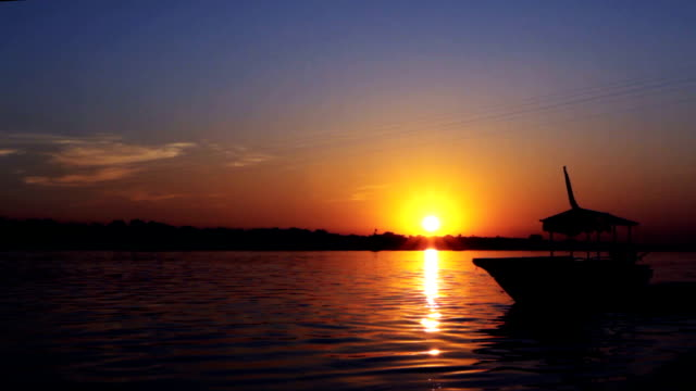 boat at sunset - positive emotion stock videos & royalty-free footage