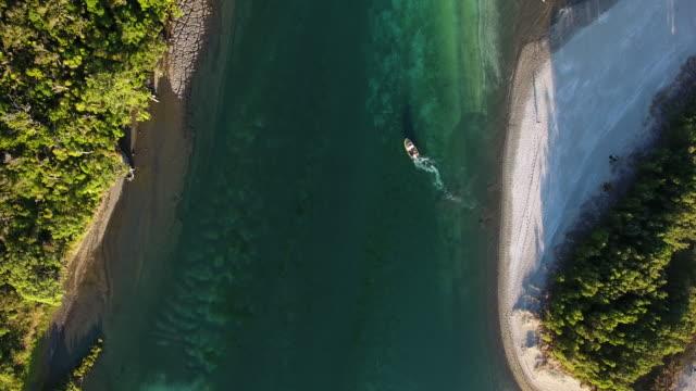 Boat At Waiwera Aerial View.