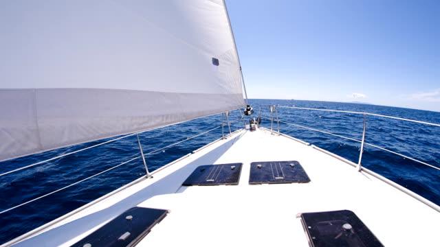 SLO MO MS barca Ponte di una barca A vela