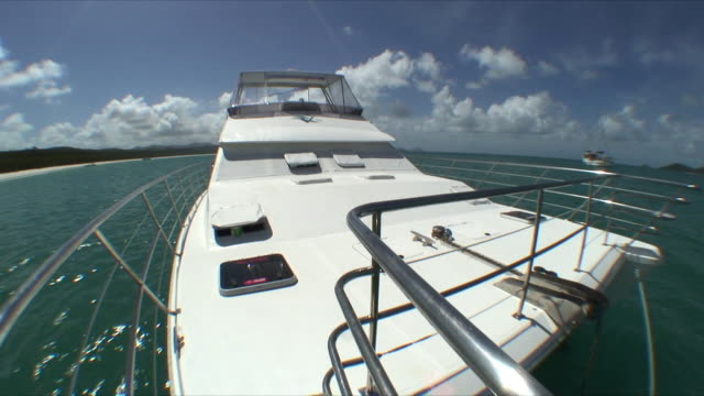 MS Boat floating on water, Whitsunday Islands, Queensland, Australia