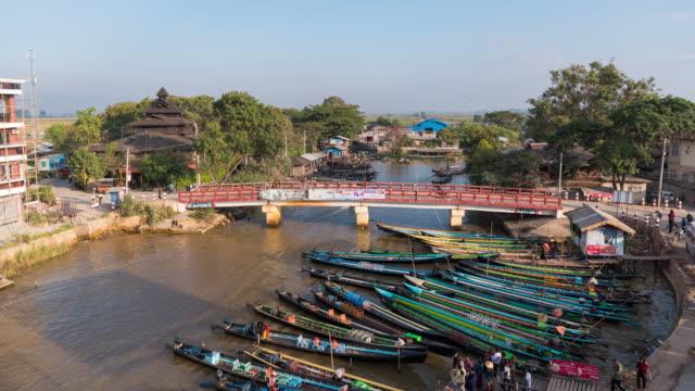 Boat for travel inle lake at inle city in Yangon Myanmar