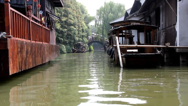 boat in river - sampan stock videos & royalty-free footage