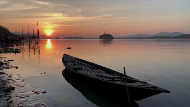 boat in the brahmaputra river during sunset - recreational pursuit stock videos & royalty-free footage