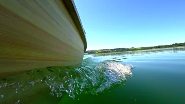 boat pov: lake mattsee, austria, in summer - traditionally austrian stock videos & royalty-free footage