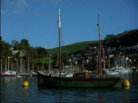 ms boat moored in dartmouth and kingswear yacht marina, devon, england - dartmouth england stock videos & royalty-free footage