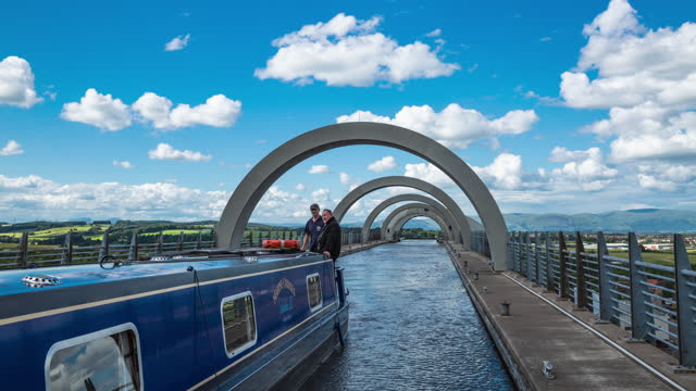 boat movement in falkirk wheel / scotland, united kingdom - ridge stock videos & royalty-free footage