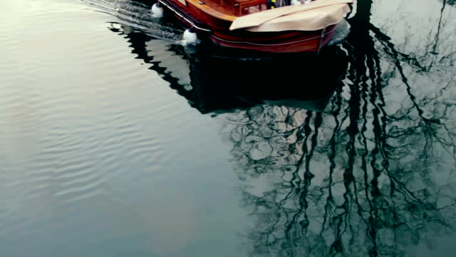 boat on a river - slovenia stock videos & royalty-free footage