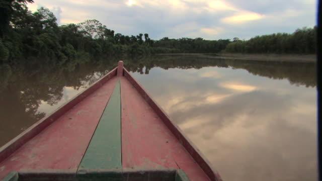 WS TS boat POV on river/ Manu National Park, Peru