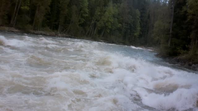 POV boat on white water rapid, British Columbia, Canada